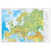 Europa. Harta fizica si politica 1600x1200mm (GHEF160-L)