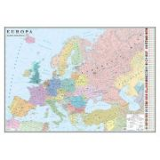 Europa. Harta politica /Harta de contur (verso), 500x350 mm (GHEP50)