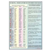 Europa. Indicatorii economici de baza - Plansa 700x1000mm, cu sipci (GP14)