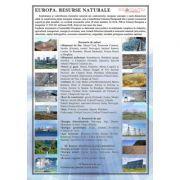 Europa. Resursele naturale - Plansa 700x1000mm, cu sipci (GP16)