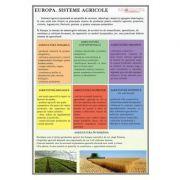Europa. Sisteme agricole - Plansa 700x1000mm, cu sipci (GP11)