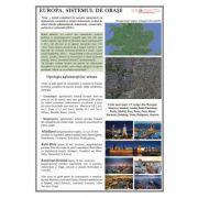 Europa. Sistemul de orase - Plansa 700x1000mm, cu sipci (GP17)