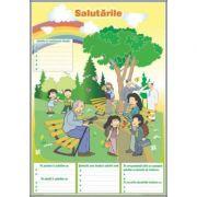 Formele de salut / Biletul. Cartea postala. Felicitarea (DUO) - Plansa cu 2 teme distinct (CP3)