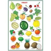 Fruit/Vegetables and herbs (DUO) - Plansa viu colorata, cu 2 teme distincte
