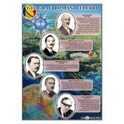 Geografi romani celebri - Plansa 700x1000mm
