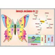 Invata, jucandu-te! / Inmultirea numerelor naturale 0-10 (DUO) - Plansa cu 2 teme distincte