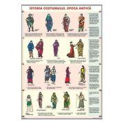 Istoria costumului. Epoca antica/Istoria uneltelor. Epoca antica (DUO) - Plansa cu 2 teme (IPL8)