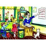 La scoala - Plansa educativa