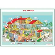 My house - Plansa viu colorata