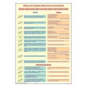 Partile de vorbire (principale si secundare) - Plansa educativa