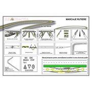 Plansa - Marcaje rutiere 2 (laterale si temporare, pentru semnalizarea lucrarilor in zona drumului)