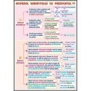 Plansa dubla - Acordul subiectului cu predicatul/ Procedee de expresivitate artistica (LR17)