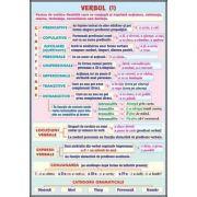 Plansa dubla - Verbul/ Vocabularul (Lexicul) (LR10)