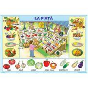 Plansa La piata / Mesterim Impreuna - Plansa cu 2 teme distincte