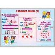 Probleme simple 2 / Tabelul claselor si ordinelor 1 (DUO) - Plansa cu 2 teme distincte