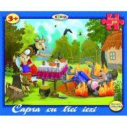 Puzzle Capra cu trei iezi