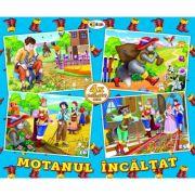 Puzzle Motanul incaltat. 4 imagini