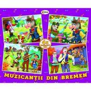 Puzzle Muzicantii din Bremen. 4 imagini