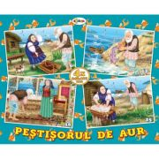 Puzzle Pestisorul de aur. 4 imagini