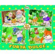 Puzzle Turta dulce. 4 imagini