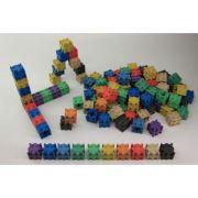 Set de cuburi colorate interconectabile - 10 culori, 100 piese