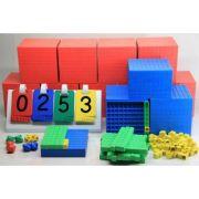 Set de cuburi in baza 10 (pentru intreaga clasa) - 4 culori