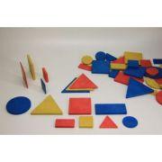 Set figuri geometrice (48 piese) - in 3 culori, 2 dimensiuni