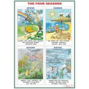 The four seasons/Weather expressions (DUO) - Plansa viu colorata, cuprinzand 2 teme distincte