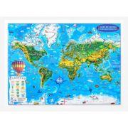 Carte du monde pour les enfants projection en 3D, 450x330mm (3DGHLCP45-FR)