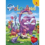 Coloram 3. Dinozauri - Contine abtibilduri