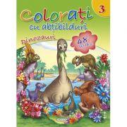 Colorati cu abtibilduri 3 - Dinozauri