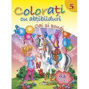 Colorati cu abtibilduri 5 - Cai si ponei