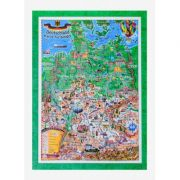 Deutschland Karte fur Kinder, Reliefkarte 3D-Format, 700x1000mm (3DGHGERM100-DE)