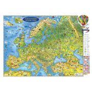 Harta Europei pentru copii 2000x1400mm, fara sipci (GHECP200-L)