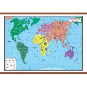Harta lumii 1400x1000 mm, cu sipci (ART. 4. 2. 1. 2)