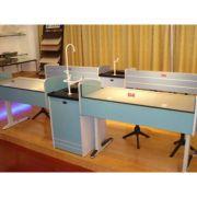 Masa pentru laboratorul de chimie MODEL 2, pentru 4 persoane (MBCH02)