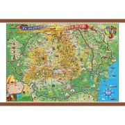 Pe-un picior de plai, pe-o gura de rai, 1400x1000mm - Harta Romaniei pentru copii (GHPLAI-140)
