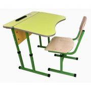 Set mobilier scolar individual reglabil, antiscolioza (MBSIRSet90137)