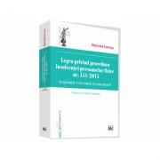 Legea privind procedura insolventei persoanelor fizice nr. 151/2015. Legislatie relevanta si comentarii - Marcela Comsa