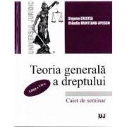 Teoria generala a dreptului. Caiet de seminar - Simona Cristea, Claudiu Munteanu-Jipescu