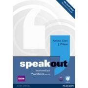 Speakout Intermediate Workbook with Key and Audio CD - Antonia Clare