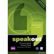 Speakout Pre-intermediate Students' Book with DVD / Active Book and MyLab - J J Wilson