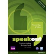 Speakout Pre-intermediate Students' Book with DVD / Active Book - Antonia Clare