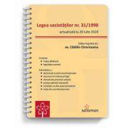 Legea societatilor nr. 31/1990 (actualizata la 20 iulie 2020) - Catalin Oroviceanu