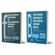 Pachet de teste Fizica si Biologie pentru admiterea in invatamantul superior medical 2020, editura Carol Davila