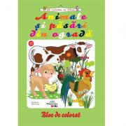 Animale si pasari din ograda - carte de colorat