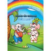 Coloreaza si creeaza o poveste cu elefantei!