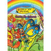 Coloreaza si creeaza o poveste cu fluturi!