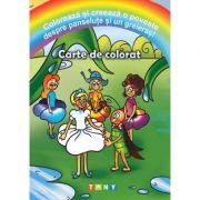 Coloreaza si creeaza o poveste despre panselute si un greieras!
