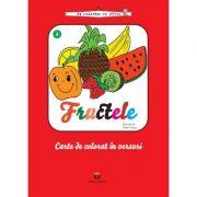 Fructele - carte de colorat